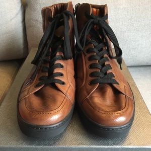 Prada Men's Avenue High Tops - Brown- Size 12